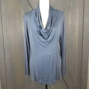 Soft Surroundings drape neck long sleeve top K68